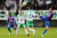 Julien FERET / Jeremy CLEMENT - 01.02.2015 - Caen / Saint Etienne - 23eme journee de Ligue 1 -<br />Photo : Vincent Michel / Icon Sport