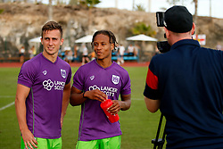Joe Bryan and Bobby Reid of Bristol City - Mandatory by-line: Matt McNulty/JMP - 22/07/2017 - FOOTBALL - Tenerife Top Training - Costa Adeje, Tenerife - Bristol City v Atletico Union Guimar  - Pre-Season Friendly
