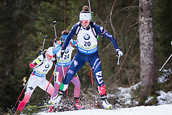 Karin Oberhofer (ITA) competes during Women 10 km Pursuit at day 3 of IBU Biathlon World Cup 2015/16 Pokljuka, on December 19, 2015 in Rudno polje, Pokljuka, Slovenia. Photo by Ziga Zupan / Sportida