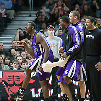 21 December 2009: Sacramento Kings guard Tyreke Evans reacts during the Sacramento Kings 102-98 victory over the Chicago Bulls at the United Center, in Chicago, Illinois, USA.