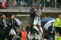 Esultanza , Goal Celebration , Arturo Vidal con Antonio Conte  Juventus.Torino 28/04/2013 Stadio Olimpico di Torino.Football Calcio Serie A  2012/13.Torino vs Juventus.Foto Insidefoto Federico Tardito