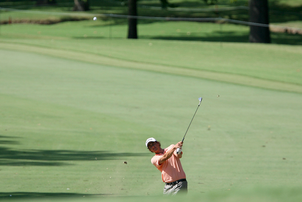 09 August 2007: Adam Scott makes an approach shot to the 9th green during the first round of the 89th PGA Championship at Southern Hills Country Club in Tulsa, OK.