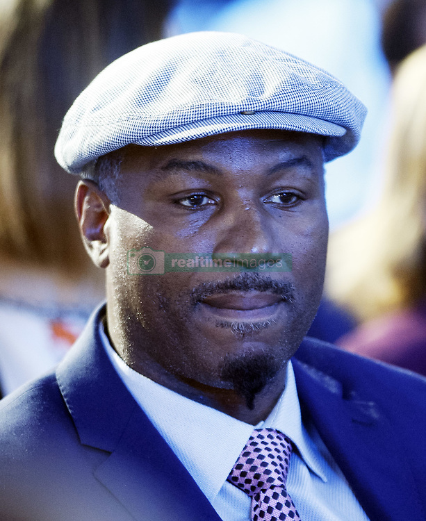 October 1, 2018 - Kiev, Ukraine - Ex boxing champion Lennox Lewis attends an official opening of the 56th WBC ( World Boxing Council ) Convention in Kiev, Ukraine, 01 October, 2018. The 56th WBC Convention takes place in Kiev from September 30 to October 05. The event participate of boxing legends Lennox Lewis, Evander Holyfield, Eric Morales, Alexander Usik, Vitali Klitschko and about 700 congress participants from 160 countries. (Credit Image: © Str/NurPhoto/ZUMA Press)