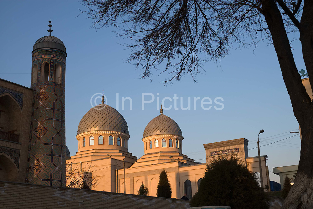 Sunset at the Kukeldash Madrasah on 1st March 2014 in Tashkent, Uzbekistan.