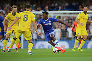 Chelsea striker Michy Batshuayi (23) dribbling on his debut during the EFL Cup match between Chelsea and Bristol Rovers at Stamford Bridge, London, England on 23 August 2016. Photo by Matthew Redman.