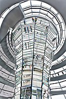 rooftop interior dome Reichstag in berlin germany