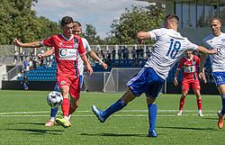 Elijah Just (FC Helsingør) under træningskampen mellem FC Helsingør og HIK den 1. august 2020 på Helsingør Ny Stadion (Foto: Claus Birch).