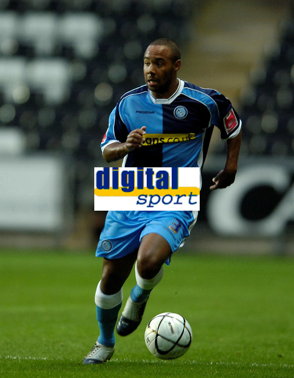 Photo: Adam Davies.<br />Swansea City v Wycombe Wanderers. Carling Cup. <br />22/08/2006.<br />Wycombe's Chris Palmer.