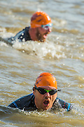 Competitors enjoy the warm sunny conditions while participating in the Hever castle Triathlon.