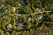 Aerial view of Ravens Run development in Mount Pleasant, SC.