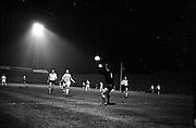 24/10/1962<br /> 10/24/1962<br /> 24 October 1962<br /> Soccer: Shamrock Rovers v Botev Plovdiv (Bulgaria), European Cup Winner's 2nd Round at Dalymount Park, Dublin. Keeper Georgi Naydenov saves from Jackie Mooney with Rayko Stoynov in support.