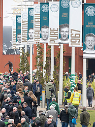 The funeral of former footballer Tommy Gemmell with the cortege at Celtic Park.