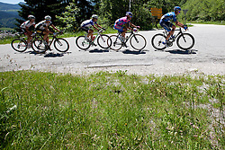Cyclists during 3rd Stage (219 km) at 19th Tour de Slovenie 2012, on June 16, 2012, in Ivancna Gorica, Slovenia. (Photo by Matic Klansek Velej / Sportida.com)