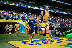 GJ van Velze (capt) of Worcester Warriors leads out his side - Rogan Thomson/JMP - 03/09/2016 - RUGBY UNION - Twickenham Stadium - London, England - Saracens v Worcester Warriors - Aviva Premiership London Double Header.