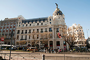 Spain, Madrid, Metropolis Building, on calle de Alcala