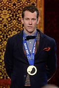 Officiele Huldiging van de Olympische medaillewinnaars Sochi 2014 / Official Ceremony of the Sochi 2014 Olympic medalists.<br /> <br /> Op de foto: Stefan Groothuis