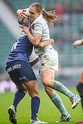Twickenham, Surrey. UK. Cambridge, Fullback, Alice MIDDLETON, in action, during the 2017 Women's Varsity Rugby Match, Oxford vs Cambridge Universities. RFU Stadium, Twickenham. Surrey, England.<br /> <br /> Thursday  07.12.17  <br /> <br /> [Mandatory Credit Peter SPURRIER/Intersport Images]