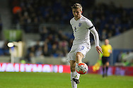 Matt Targett (Southampton), England U21 on the ball during the UEFA European Championship Under 21 2017 Qualifier match between England and Switzerland at the American Express Community Stadium, Brighton and Hove, England on 16 November 2015. Photo by Phil Duncan.