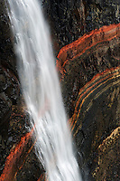 13.08.2008<br /> Hengifoss waterfall<br /> Layers of grey basalt and reddish sandy clay<br /> Iceland