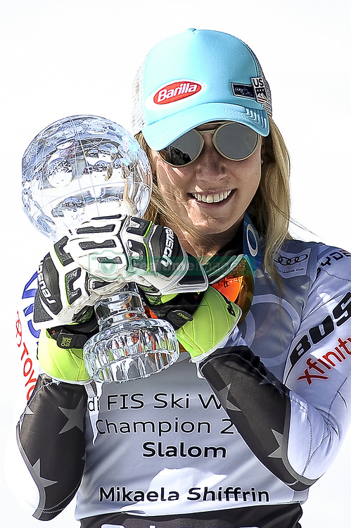 March 16, 2019 - Andorra La Vella, Andorra - Mikaela Shiffrin of USA Ski Team, win the Cristal Globe of  Ladie's Giant Slalom Audi FIS Ski World Cup, on March 16, 2019 in El Tarter, Andorra. (Credit Image: © Joan Cros/NurPhoto via ZUMA Press)