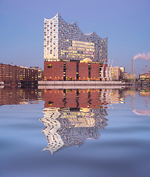 Elbphilharmonie, Hamburg, Germany; View of new Elbphilharmonie opera house in Hamburg, Germany.