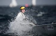 The 2015 Laser Women's Radial World Championship. Mussanah. Oman. November 18-26 November. Day 3 of racing -  Gintare Volungeviciute-Scheidt (LTU)<br /> Image licensed to Lloyd Images