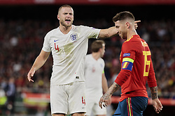 Spain's Sergio Ramos and England's Eric Dier during UEFA Nations League 2019 match between Spain and England at Benito Villamarin stadium in Sevilla, Spain. October 15, 2018. Photo by A. Perez Meca/Alterphotos/ABACAPRESS.COM
