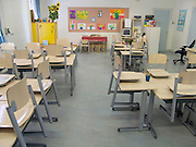 an empty classroom in Holland
