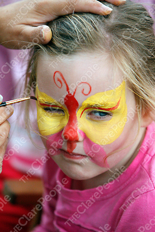 Emily Power was very colourful at the Mullagh show on Sunday.<br /><br /><br /><br />Photograph by Yvonne Vaughan.
