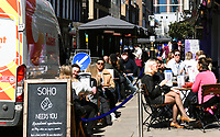 People out and about in londons Soho  lockdown restrictions start to ease photo by Krisztian Elek
