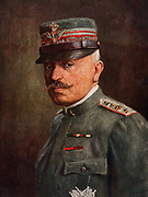 General Luigi Cadorna (1850-1928) Italian army officer,  Chief-of-staff of the Italian army at the outbreak of the First World War until his dismissal after the defeat of the Italians at Caporetto in October 1917.