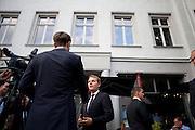 Comizio elettorale di Daniel Bahr, candidato dell'FDP, il partito Liberale, e ministro della salute dell'attuale governo Merkel.