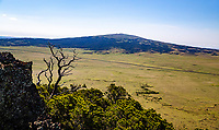 The 8,720 Sierra Grande as viewed from the top of Capulin Volcano.  Sierra Grande is a large shield volcano on the plains of northeastern New Mexico.