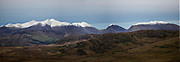 Snow covered Carrauntoohill Mountain viewed from Aghadoe, Killarney in County Kerry.<br /> Picture by Don MacMonagle -macmonagle.com