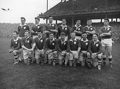 Neg no:.A969/7118-7128...17031959IPFCF.17.03.1959..Interprovincial Railway Cup Football - Final...Leinster.02-07..Munster.00-07..Leinster. ..S. Flood (Louth), G. Hughes (Offaly), A. Doyle (Wexford), J. Timmons, J. Boyle (Dublin), P. Nolan (Offaly), M. Grace (Meath), F. Walsh (Laois), C. O'Leary (Dublin), S. Brereton (Offaly), O. Freaney (Dublin), J. Kenna (Laois), P. Farnan, J. Joyce, K. Keffernan (Dublin).
