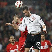 Austria's Stefan MAIERHOFER (R) during their UEFA EURO 2012 Qualifying round Group A soccer match Turkey betwen Austria at Sukru Saracoglu stadium in Istanbul March 29, 2011. Photo by TURKPIX