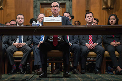 June 13, 2017 - Washington Dc, DC, USA - Treasury Secretary Steven Mnuchin testifies before the Senate Budget Committee to examine the proposed budget request for FY2018 and revenue proposals. (Credit Image: © Ken Cedeno via ZUMA Wire)