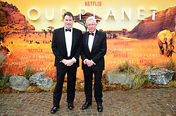 Alastair Fothergill and Keith Scholey attending the global premiere of Netflix's Our Planet, held at the Natural History Museum, London.