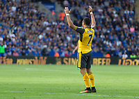 Football - 2016/2017 Premier League - Leicester Ciity V Arsenal. <br /> <br /> A solitary Alexis Sanchez of Arsenal cries out for the ball to be given to him at The King Power Stadium.<br /> <br /> COLORSPORT/DANIEL BEARHAM
