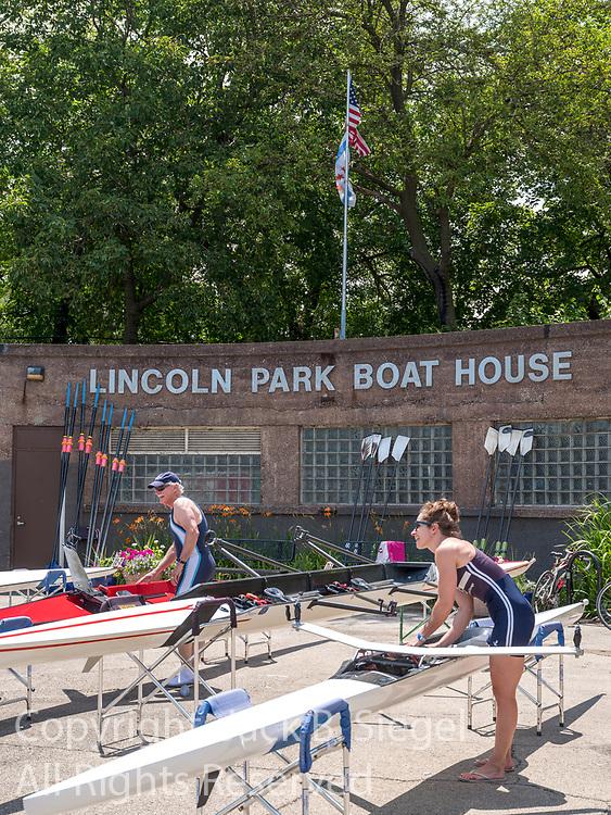 The boats, crew, and spectators who participated in the Lincoln Park Boat Club's 37th Annual Chicago Sprints Regatta