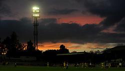 Sunset over Twerton Park - Mandatory by-line: Neil Brookman/JMP - 26/07/2017 - FOOTBALL - Twerton Park - Bath, England - Bath City v Bristol Rovers - Pre-season friendly