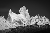 Fitz Roy in black and white, Los Glaciares National Park, Argentina