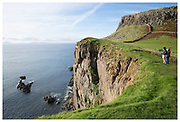 Neist Point Lighthouse. The most Westerly point on the Isle of Skye,  Scotland