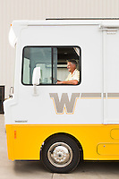 Portrait of Winnebago Industries CEO Randy J. Potts taken at the company's facotry in Forest City, Iowa, on August 7, 2014. Originally published in Fortune Magazine.