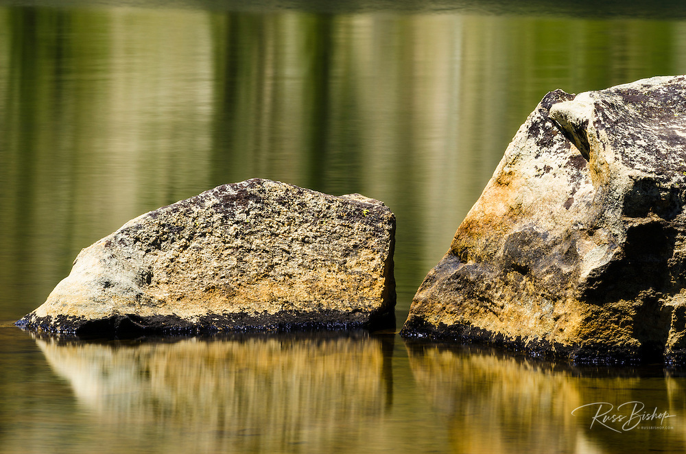 Rock detail, Elizabeth Lake, Tuolumne Meadows, Yosemite National Park, California USA