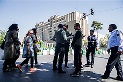Members of the Iranian Revolutionary Guard secure the area outside the Iranian parliament during an attack on the complex in the capital Tehran on June 7, 2017. Gunmen and suicide bombers carried out coordinated attacks on Iran's parliament and the tomb of revolutionary founder Ruhollah Khomeini on June 7, 2017, state media reported, killing at least three people.Photo by Vahabzadeh FarsNews/ParsPix/ABACAPRESS.COM
