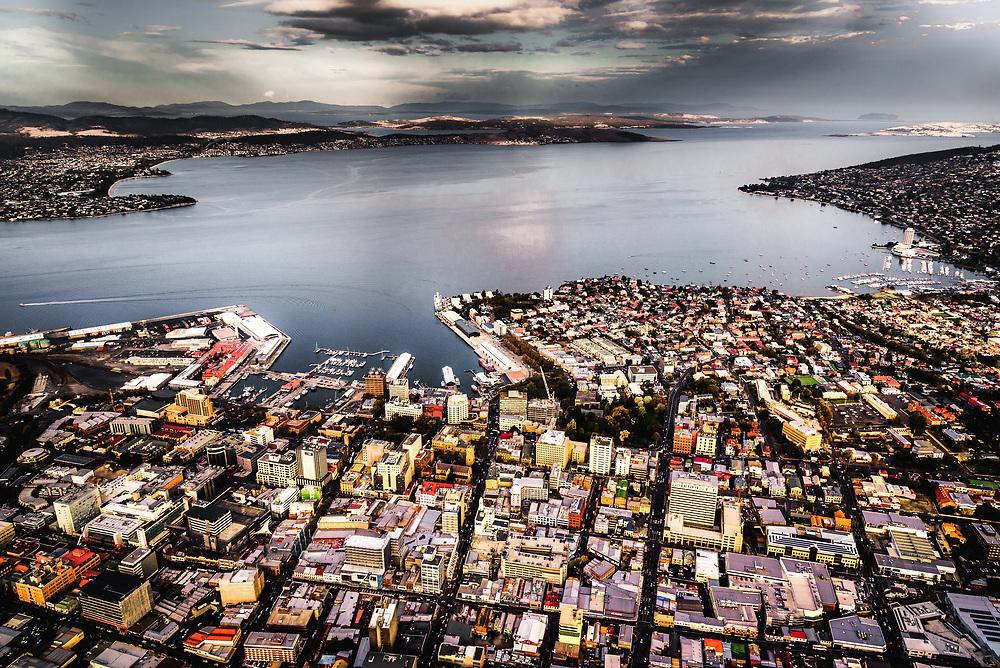 Aerial View of Hobart, Tasmania