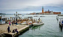Gondolas on the Grand Canal near St. Mark's Square (Piazza San Marco) in Venice, Italy<br /> <br /> (c) Andrew Wilson | Edinburgh Elite media