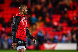 Toulon's JP Pietersen during the pre match warm up<br /> <br /> Photographer Craig Thomas/Replay Images<br /> <br /> European Rugby Champions Cup Round 5 - Scarlets v Toulon - Saturday 20th January 2018 - Parc Y Scarlets - Llanelli<br /> <br /> World Copyright © Replay Images . All rights reserved. info@replayimages.co.uk - http://replayimages.co.uk