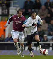 Photo: Olly Greenwood.<br />West Ham United v Tottenham Hotspur. The Barclays Premiership. 04/03/2007. Spurs DImitar Berbatov and West Ham's Lee Bowyer